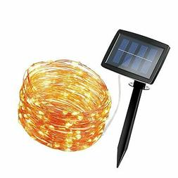 AMIR Solar Powered String Lights 150 LED, 2 Modes Steady on/