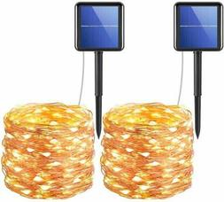 Solar Powered String Lights, 200 LED Copper Wire Lights, 72f