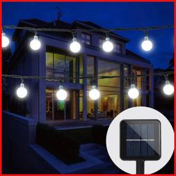 Solar Powered String Lights 30 Crystal Balls Outdoor Home LE