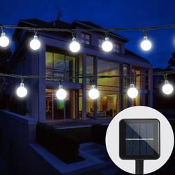 30 LED Solar String Lights Crystal Balls Outdoor Party Weddi