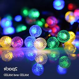 Lalapao Solar Powered Xmas Outdoor String Light 2 Pack 50 LE