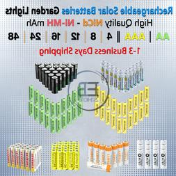 Solar Rechargeable Batteries AA / AAA Battery 4 8 16 20 Char