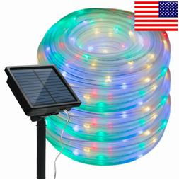 Solar Rope Camping Lights Starry Fairy String Lights Waterpr