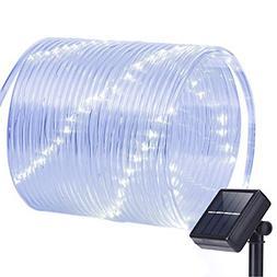 Oak Leaf Outdoor Solar String Lights, 41ft 100LED Solar Rope