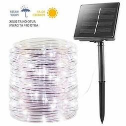 Solar Rope String Lights Outdoor 72FT 200 LED Waterproof Sol