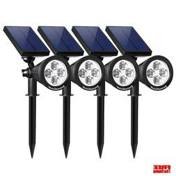 Solar Spot Lights Outdoor Driveway Upgraded Frosted Panel Wa