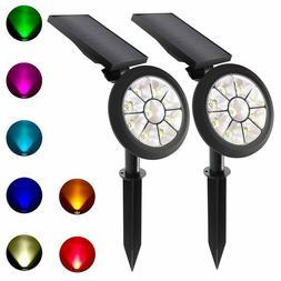 Solar Spotlights Outdoor Solar Lights Color Changing Multi C