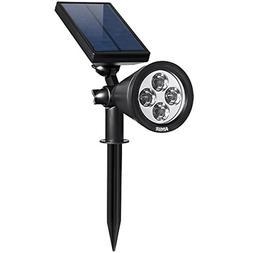AMIR Solar Spotlights Outdoor Upgraded, Waterproof 4 LED Sol
