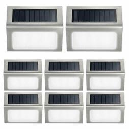 Solar Step Lights Outdoor, Solar Deck Lights 6 LED Wireless