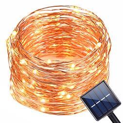 Solar String Light Outdoor,Oak Leaf 19.7 Feet 120 LED Warm W