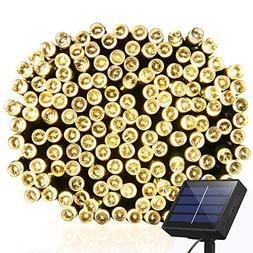 Solar String Lights 115ft 300 LED Fairy Lights, Ambiance lig