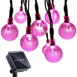 Qedertek Solar String Lights Outdoor,Bubble Globe Solar Ligh