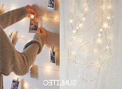 Solar String Lights, Sunlitec 100 LEDs Starry String Lights,