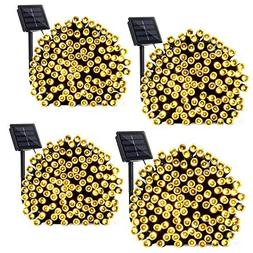 Qedertek 4 Pack Solar String Lights, 72ft 200 LED Solar Ligh