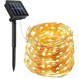 Solar String Lights Outdoor, 72ft 200 LED Powered Fairy Wate