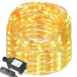 Solar Outdoor String Lights - 2-Pack Voona 30ct 20ft Frosted