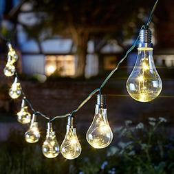 Solar Outdoor String Lights 10PCS LED Waterproof Ball Lights