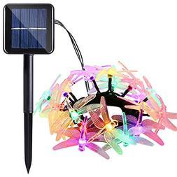 Icicle Solar String Lights, 16ft 20 LED 8 Modes Dragonfly Sh