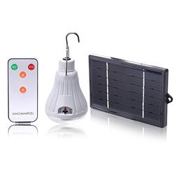 Alloet Solar LED Tent Light,Bright LED Dimmable Bulb with Re