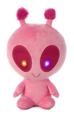 "Solar the 8"" Light Up Alien PINK by Aurora stuffed animal pl"