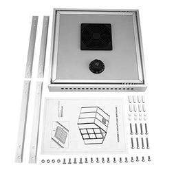 Liobaba Solar Thermostatic Ventilator Fan for Automatic Vent