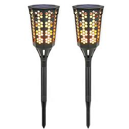 Solar Torch Lights , MoKo Waterproof Flame Lighting Lamps 96