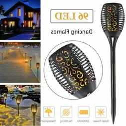 Solar Torch Lights Balight Dancing Flame Lighting 96 LED Fli