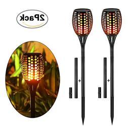 Solar Torch Lights,Balight Dancing Flame Lighting 96 LED Fli