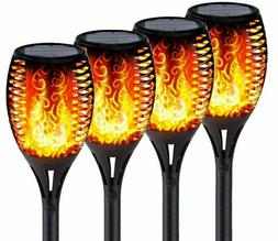 Solar Torch Lights With Flickering Flames IP65 Waterproof Ou