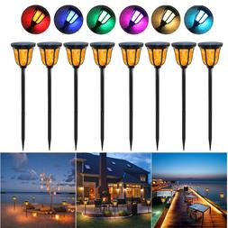 Solar Torches Lights Waterproof Dancing Flame Outdoor Garden