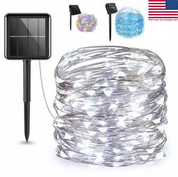 Solar Twinkle Powered100LED Fairy String Night Lights Outdoo