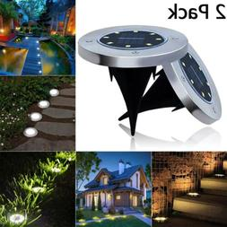 Solar Under Ground Light 8 LED Buried Floor Lamps Garden Law