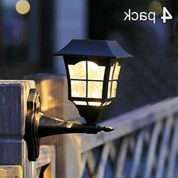 Maggift 6 Lumens Solar Wall Lantern Outdoor Wall Sconce Sola