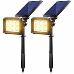 Solar Wall Lights Outdoor Auto On/Off Spotlight Pathway Gard