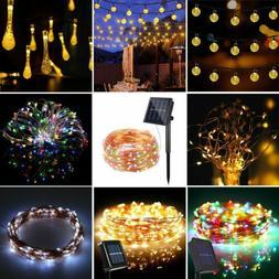Solar Warm White Night Fairy String Lights Wedding Xmas Part