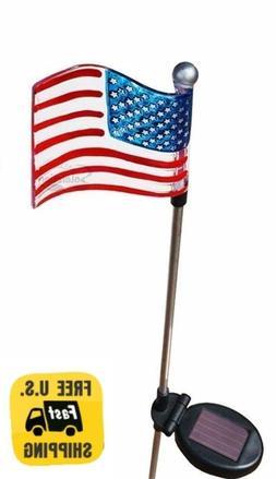 Solar Wholseale 1022-2 American Flag Solar Garden Stake Ligh