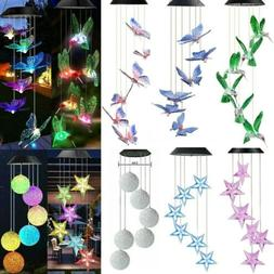 Solar Christmas Wind Chimes Light LED Garden Color Changing