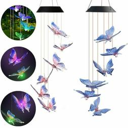 Solar Wind Chimes Lights LED Garden Outdoor Color Changing H