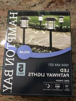 Hampton Bay Solar Zinc Outdoor Integrated LED Landscape Path