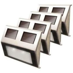 Solar-Powered Metal Deck Light - 4 Pack