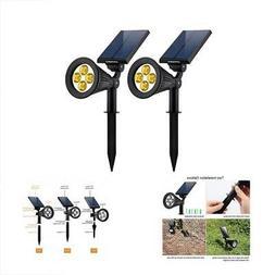 Spotlights URPOWER Solar Lights 2-in-1 Powered 4 LED Adjusta