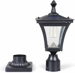 KMC LIGHTING ST4212Q Solar Post Light 7.48X7.48X16.46 inches