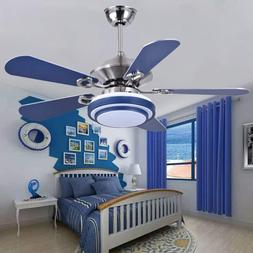 stainless steel ceiling fan with led light