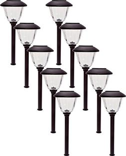 Energizer 10 Pack Stainless Steel LED Solar Path Lights