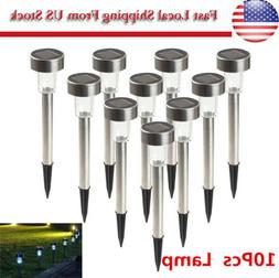 10 Pack Outdoor Stainless Steel Led Solar Power Lights Lawn