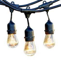 Newhouse Lighting Outdoor String Lights with Hanging Sockets