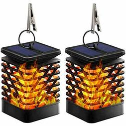 TomCare Solar Lights Lantern Dancing Flame Outdoor Hanging D