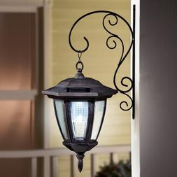 Traditional Porch Light LED Lantern Solar Powered Wall Hangi