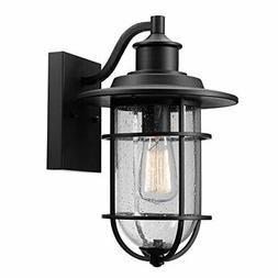 Globe Electric 44094 44094BK Outdoor Wall Sconce, Black