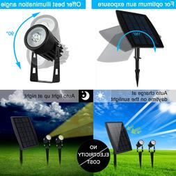 Twin Solar Spot Lights Waterproof Auto On/Off Garden Outdoor